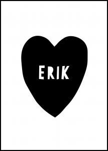 Heart Name - Black