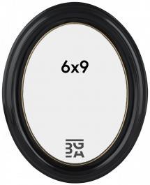 Eiri Mozart Oval Fotoramme Sort 6x9 cm