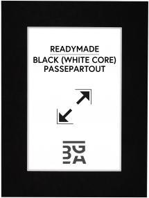 Passepartout Sort (Hvid kerne) 30x40 cm (20x28,7 - A4)