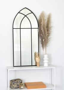 KAILA Spejl Window - Sort 45x100 cm