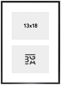 Edsbyn Collageramme XXIV Sort - 2 Billeder (13x18 cm)