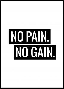 No Pain No Gain Plakat