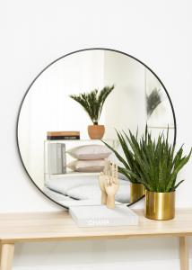 KAILA Round Mirror - Edge Black 90 cm Ø