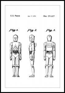 Patenttegning - Star Wars - C-3PO Plakat