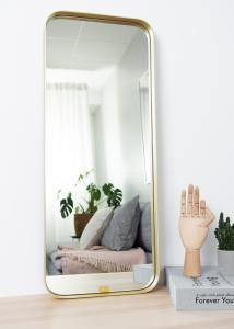 Spejl Square Messing 31x76 cm