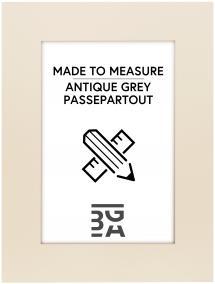 Passepartout Antique grey - Bestilt efter mål