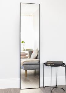 Spejl Narrow Sort 40x170 cm