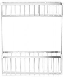 Kurv Bath Dobbel 28x33,5 cm - Sølv