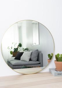 KAILA Round Mirror - Thin Brass 80 cm Ø