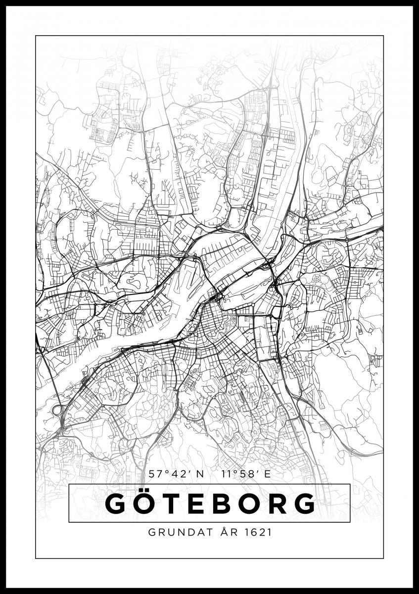 Kort Goteborg Hvid Bga Dk