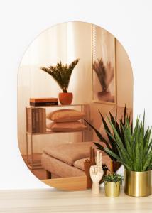 KAILA Spejl Oval Rose Gold 70x100 cm