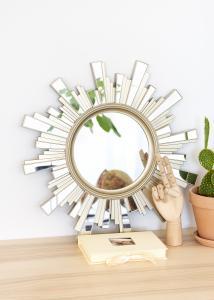 Spejl Sol 50x50 cm