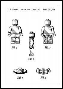 Patenttegning - Lego I Plakat