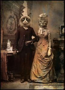 Cat Couple Plakat