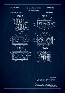 Patent Print - Lego Block II - Blue Plakat