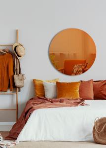 Spejl Slim Orange 90 cm Ø