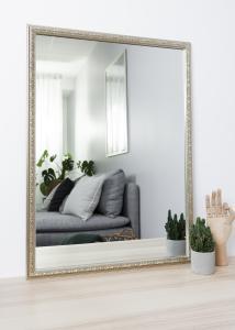 Spejl Nostalgia Sølv 50x70 cm