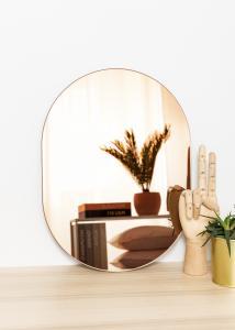 KAILA Spejl Oval Rose Gold 30x40 cm