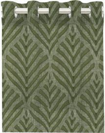 Gardin med sejlringe Leroy - Grøn 2-pak