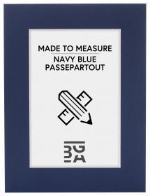 Passepartout Marineblå (Hvid kerne) - Bestilt efter mål