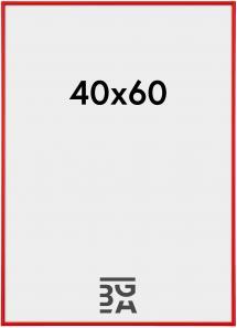 Galeria Billedramme rød 40x60 cm