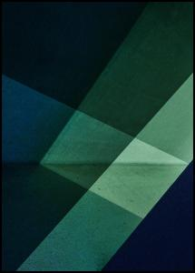 Green & Blue Graphic Plakat