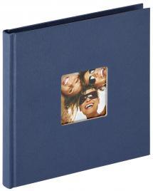 Fun Blå - 18x18 cm (30 Sorte sider)