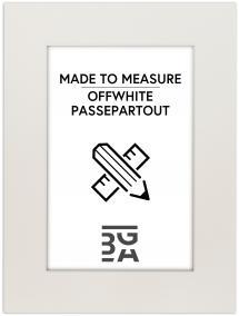 Passepartout Offwhite (Hvid kerne) - Bestilt efter mål