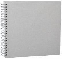 Base Line Canvas Wire-O Beige 30x30 cm (50 Hvide sider / 25 Ark)