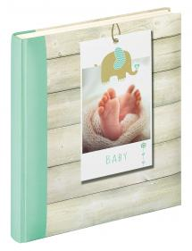 Welcome Babyalbum Grön - 28x30,5 cm (50 Hvide sider / 25 blade)