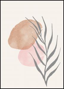 Painted Leaf II Plakat