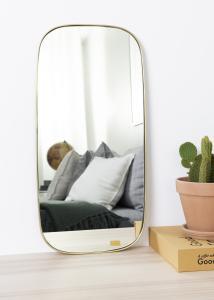 Spejl Square Messing 29x59 cm