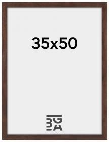 Stilren Billedramme Valnød 35x50 cm