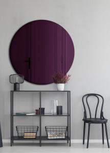 Spejl Slim Purple 70 cm Ø