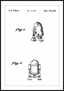 Patenttegning - Star Wars - R2-D2 Plakat