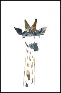 Giraffe sunrise Plakat