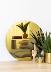 KAILA Rundt Spejl Gold 60 cm Ø