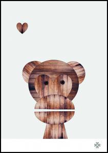 Wood monkey Plakat