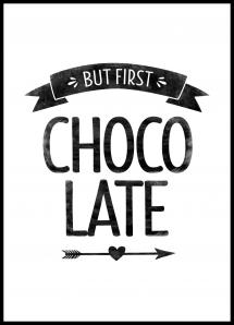But first chocolate Retro Plakat