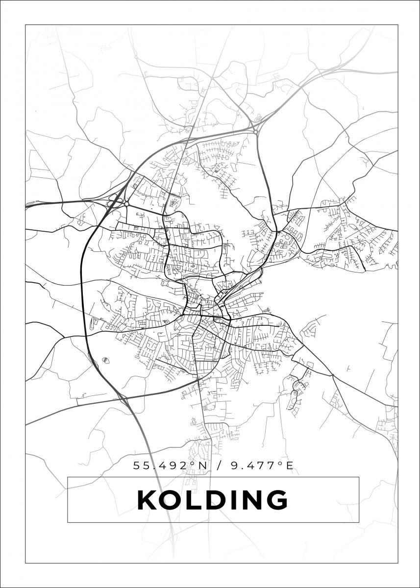 Kort Kolding Hvid Bga Dk