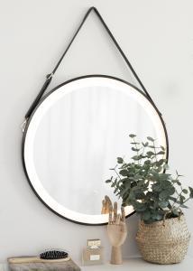 KAILA Spejl Sort LED 60 cm Ø
