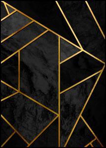 Gold & Black Marble Plakat
