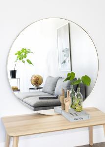 Spejl Vendela Messing 110 cm Ø