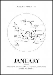 Monthly star January Plakat
