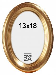Molly ramme Oval Guld 13x18 cm