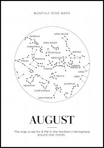 Monthly star August Plakat