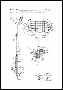 Patenttegning - Elguitar II Plakat