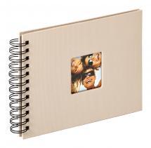 Fun Spiralalbum Sand - 23x17 cm (40 Sorte sider / 20 blade)