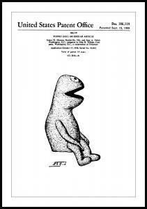 Patenttegning - Muppets - Kermit I Plakat
