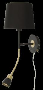 Væglampe Eketorp - Sort/Messing